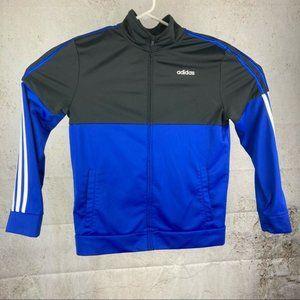 Adidas Color Block Zip Up Track Jacket 3 Stripe